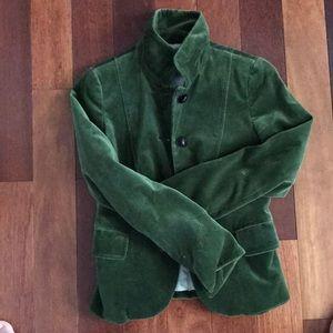 Velvet military blazer